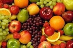 Сочетание винограда в фруктами