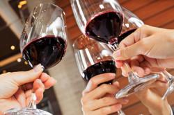 Правильное держание бокала с вином