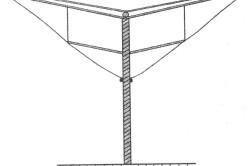 Схема шатровой шпалеры
