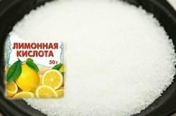 Добавление лимонной кислоты