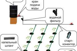 Схема монтажа капельного полива