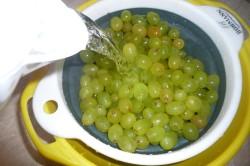Промывка винограда